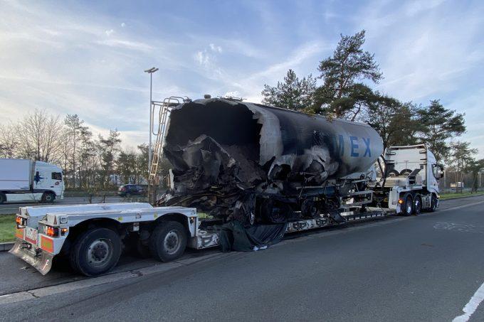 BFM Vrachtwagenbrand E34 Vorselaar 13